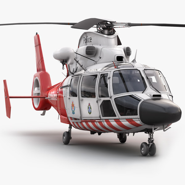 eurocopter 365 air ambulance 3d max