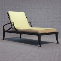 restoration klismos chaise 3d model