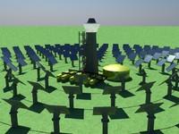 solar plants 3d c4d