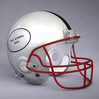 generic american football helmet 3d obj