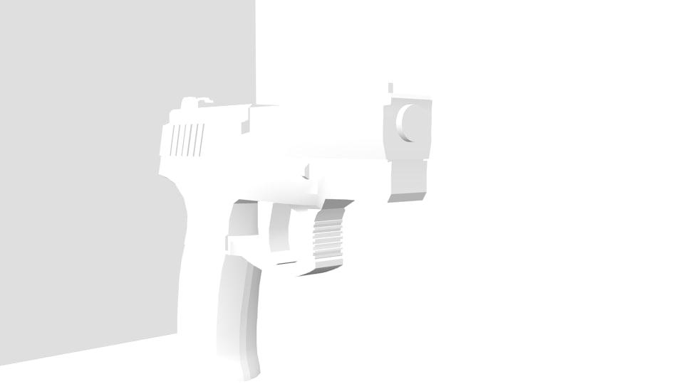 3d model of taurus handgun