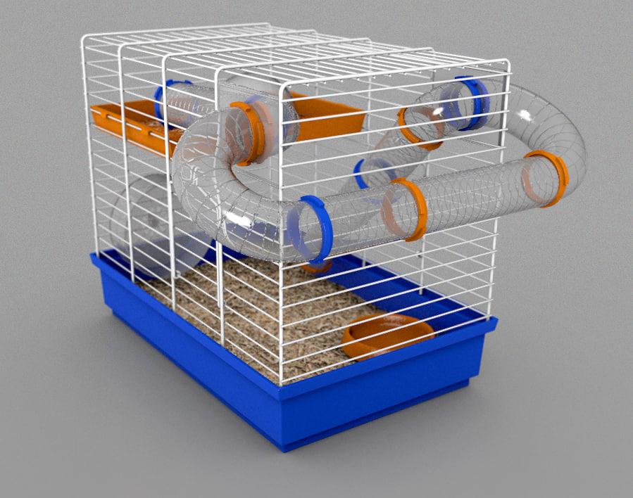 3d model hamster cage