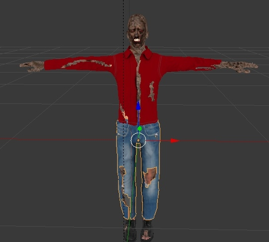 3d zombie human model