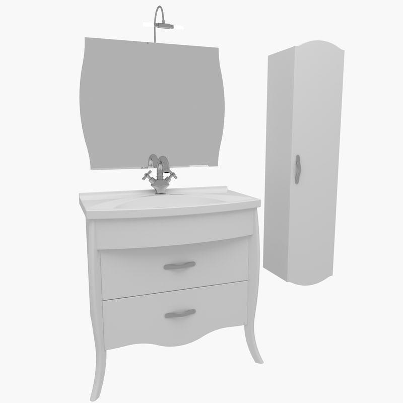 bathroom furniture house home 3d model
