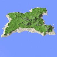 3d heightmap model