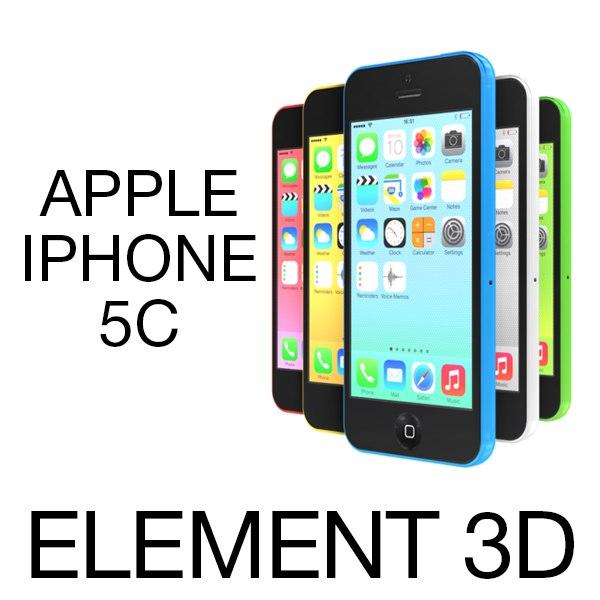 3ds max apple iphone 5c element