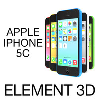 3ds max apple iphone 5c element