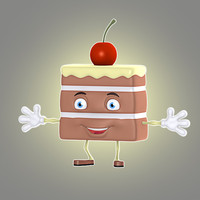 3d cartoon cake model