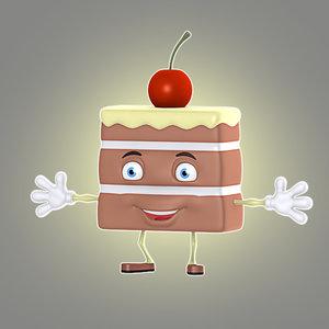3d cartoon cake model