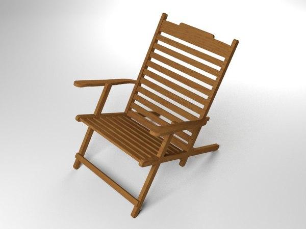 3d deck chair