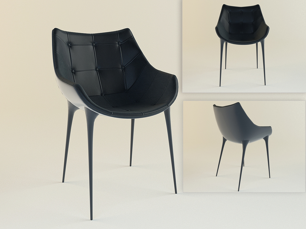 3dsmax cassina 246 passion chair starck