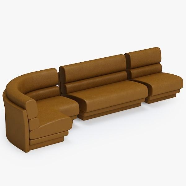 3d sofa modular model