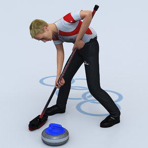 curling player max