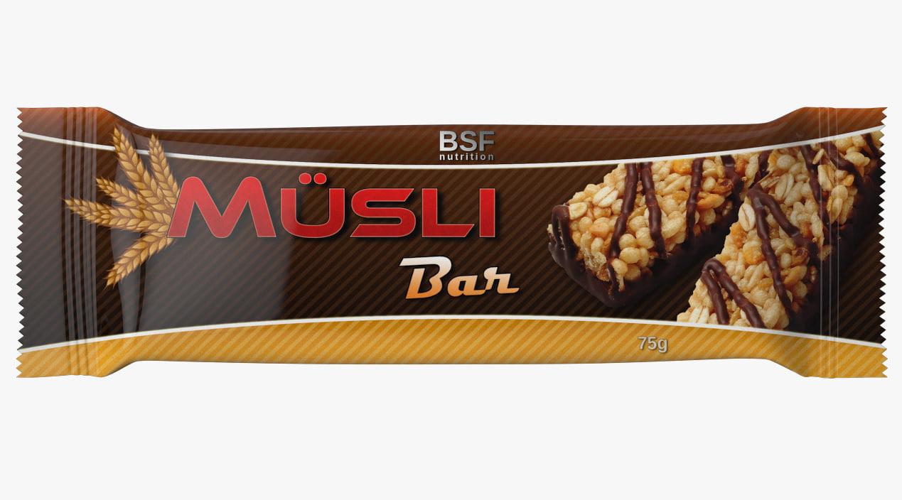 musli bar 3d max