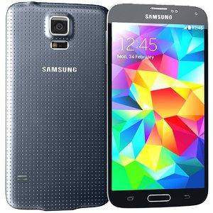 samsung galaxy s5 black 3d 3ds