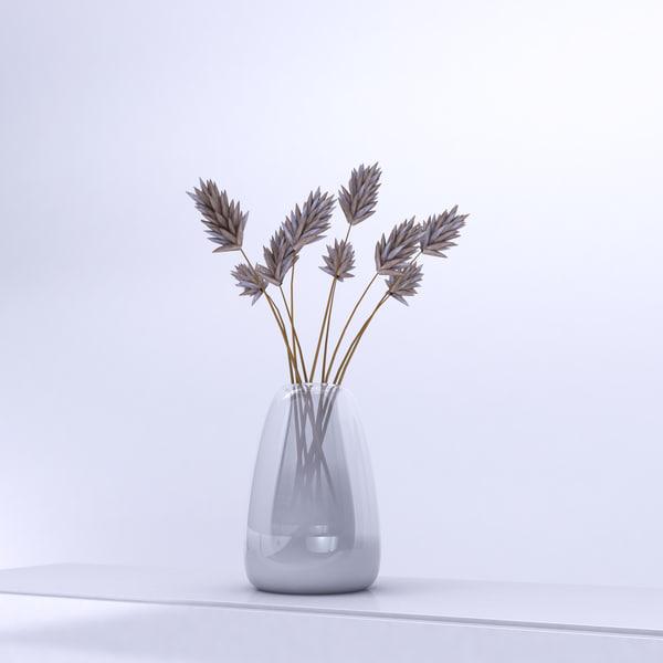 vase thistles 3d model