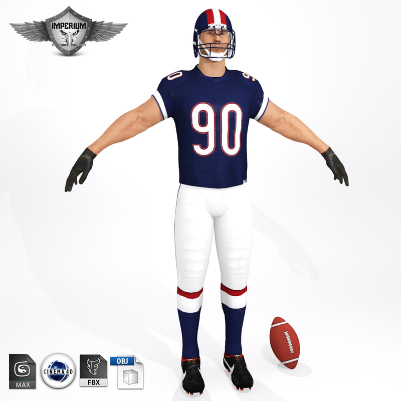 c4d american football player