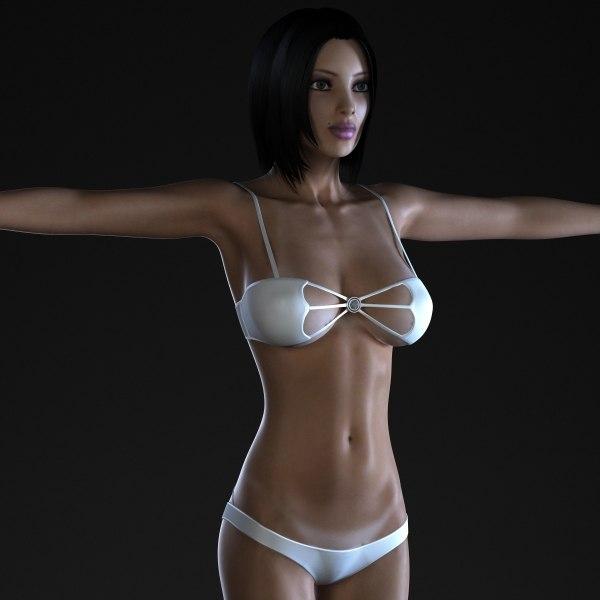 3ds max female body
