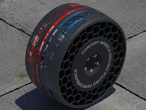 3d model concept wheel