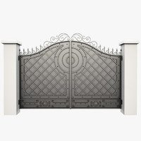 wrought iron gate 3d max