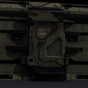 sci-fi low-poli 3d max