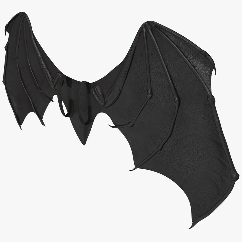 & obj costume bat wings