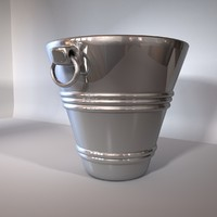 shiny ice bucket champagne 3d model