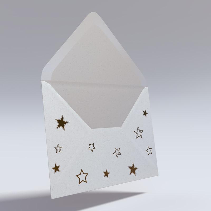 rigged envelope 3d model