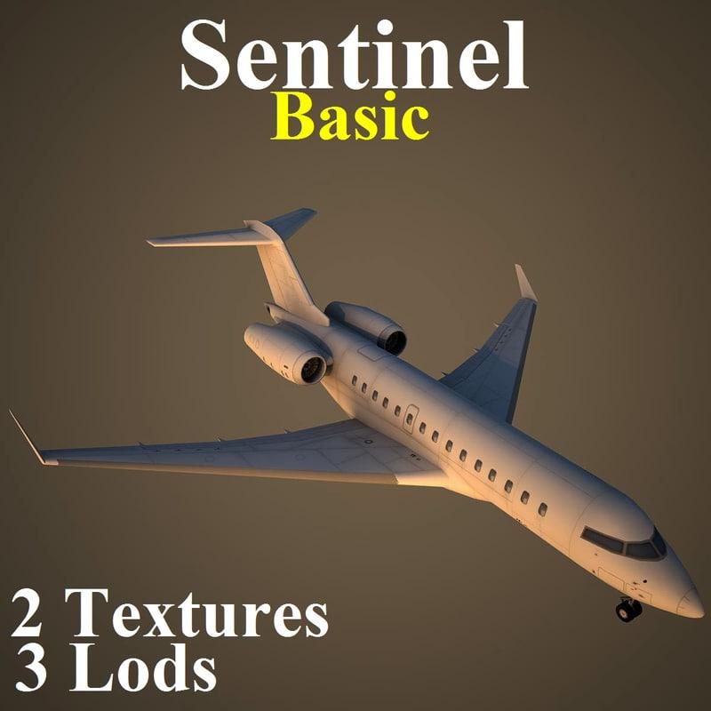 bombardier basic 3d max