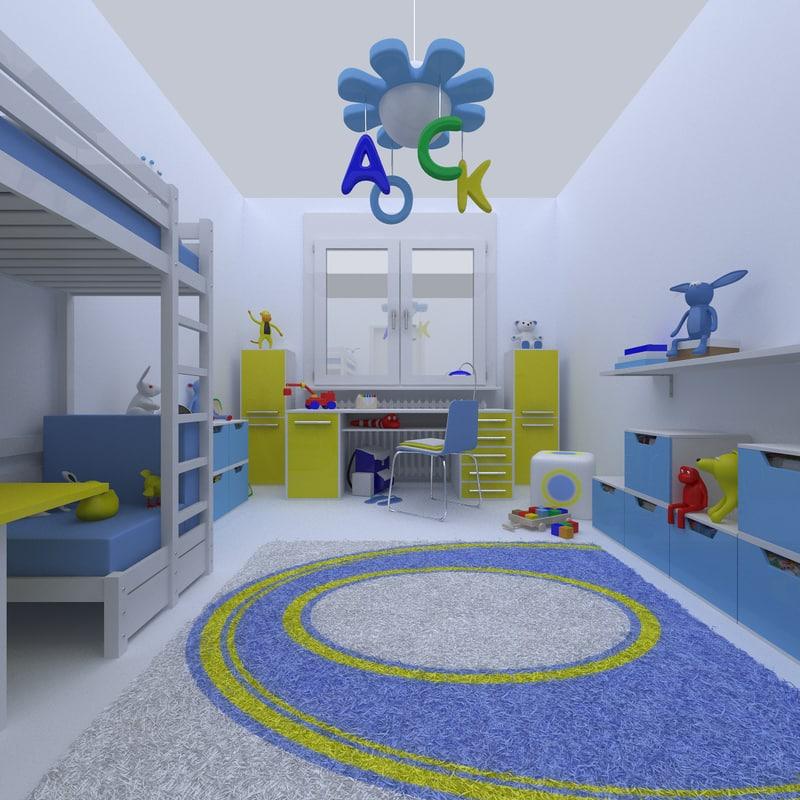 3d kids room deco