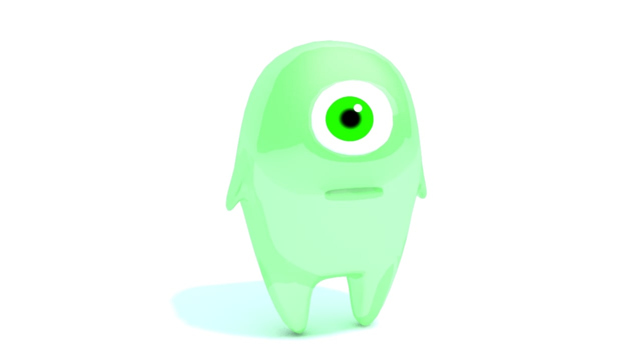 3d max mucus cute alien