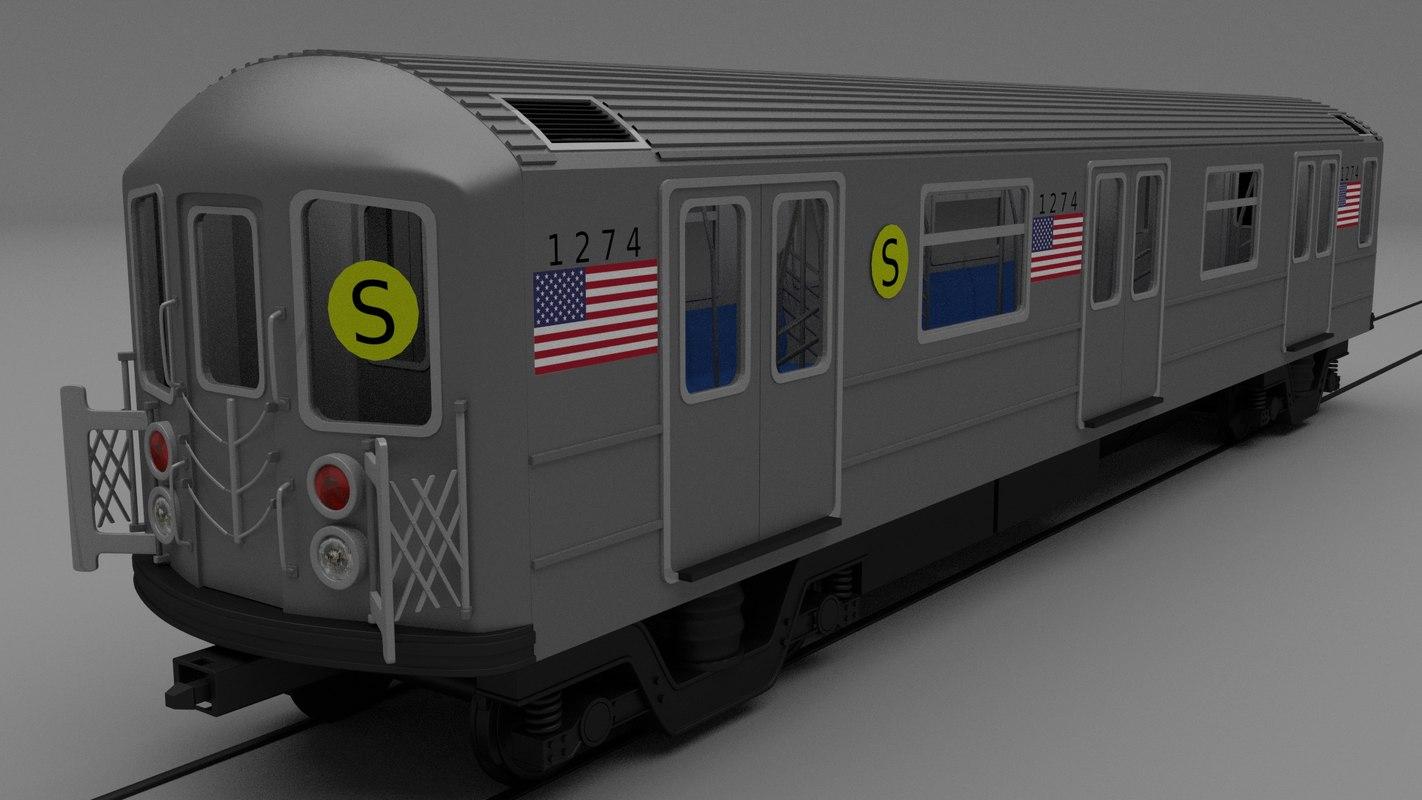 3d new york subway train model