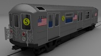 3d new york subway train model