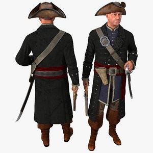 pirate pose 1 3d max