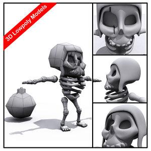 max zombie skeleton character cartoony