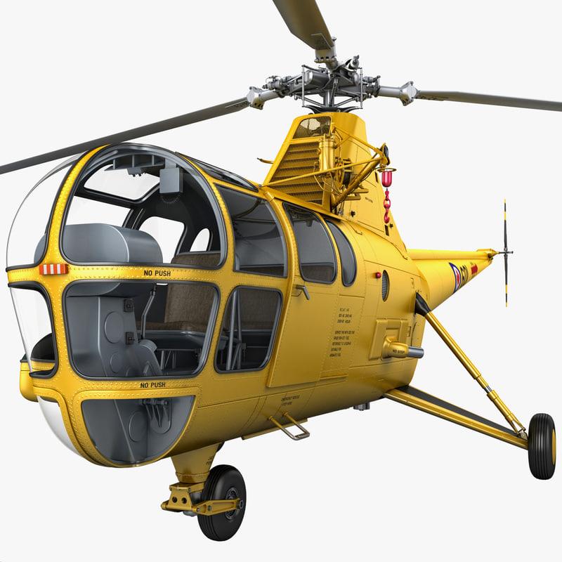 3d model sikorsky h-5 rigged