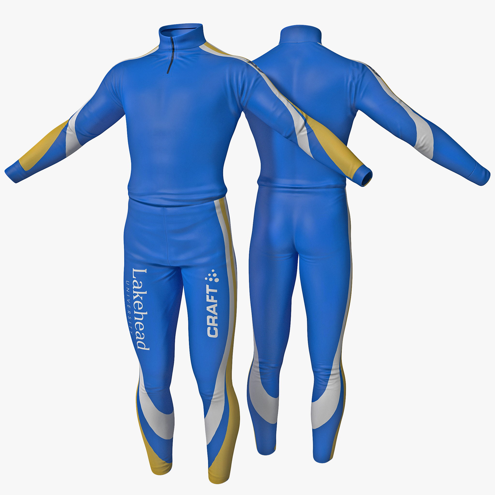 3d skier clothes 3 model