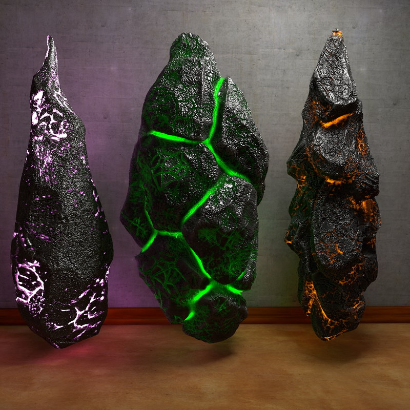 energy stone 3d c4d