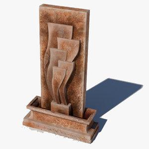 fountain decorative unity 3d model