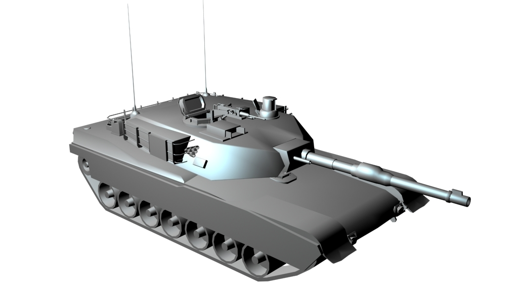 free m1a1 tank 3d model