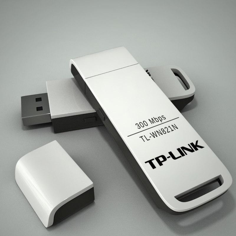 3d model usb wireless adapter