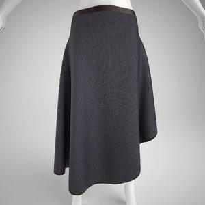 3d max woman s skirt mannequin