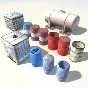 3d water liquid tanks
