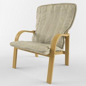 armchair lotos 3d max