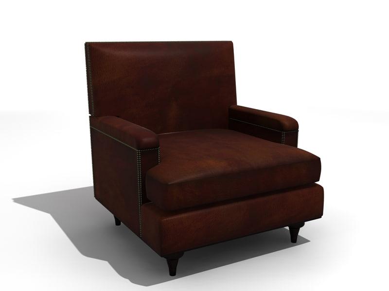 chair antique 3d model