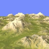 3d model landscape terrain
