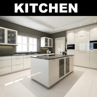 kitchen realistic 3d max