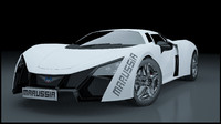 marussia b2 sport car 3d model