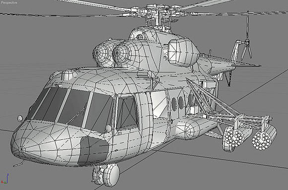 3ds helicopter mi-17