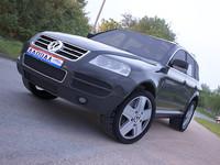 3d model volkswagen touareg